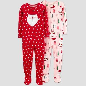 Carter's Just One You Set of 2 Footed Pajamas PJ